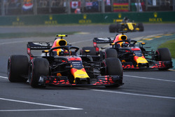 Max Verstappen, Red Bull Racing RB14 et Daniel Ricciardo, Red Bull Racing RB14