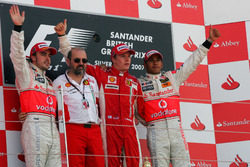 Podium: 1. Kimi Räikönen, Ferrari; 2. Fernando Alonso, McLaren; 3. Lewis Hamilton, McLaren