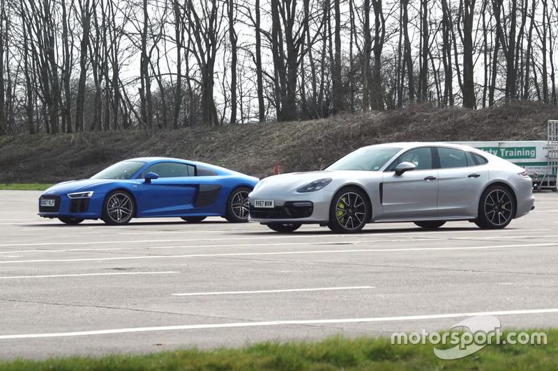 Audi R8 проти Porsche Panamera