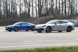 Audi R8 versus Porsche Panamera