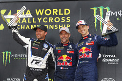 Yarış galibi Sébastien Loeb, Team Peugeot Total, 2. Petter Solberg, PSRX Volkswagen Sweden, 3. Timmy Hansen, Team Peugeot Total