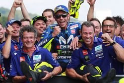 Second place Valentino Rossi, Yamaha Factory Racing