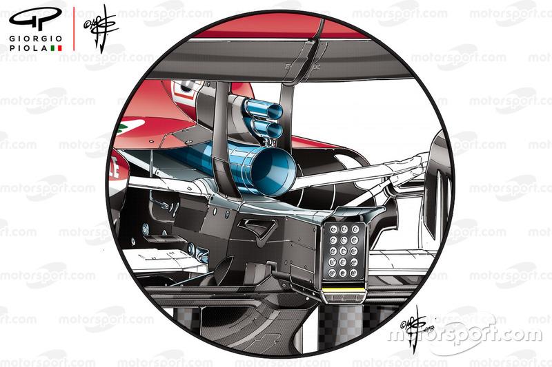 Ferrari SF71H new exhausts, German GP