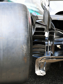 Mercedes-AMG F1 W09 rear brake duct detail