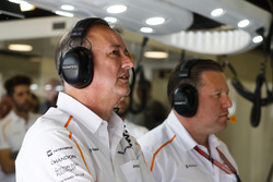 Jonathan Neale, Managing Director, McLaren, and Zak Brown, Executive Director, McLaren Technology Group