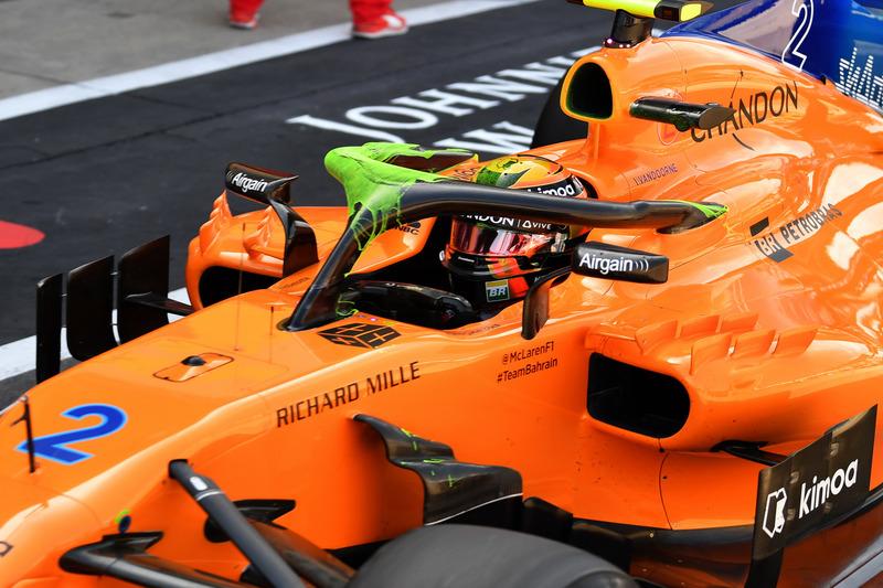 El McLaren MCL33 con parafina en el Halo