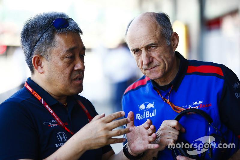 Masashi Yamamoto, General Manager, Honda Motorsport, Franz Tost, Team Principal, Toro Rosso