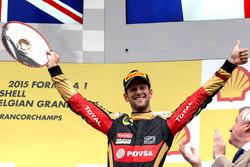 Podium: third place Romain Grosjean, Lotus F1 Team