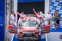 Second place Mads Ostberg, Torstein Eriksen, Citroën C3 WRC, Citroën World Rally Team