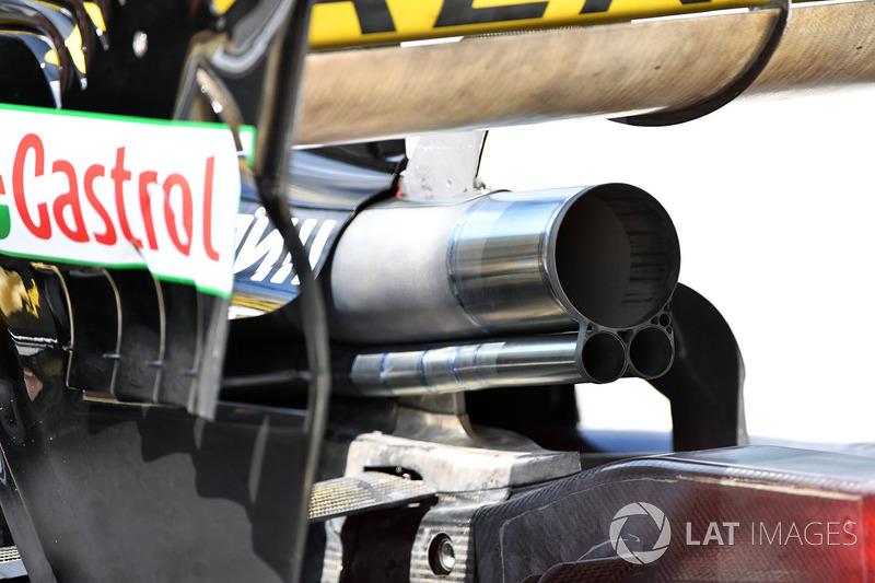 Renault Sport F1 Team R.S. 18 exhaust