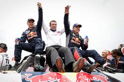 Ganador coches Carlos Sainz, Lucas Cruz, Peugeot Sport, Bruno Famin