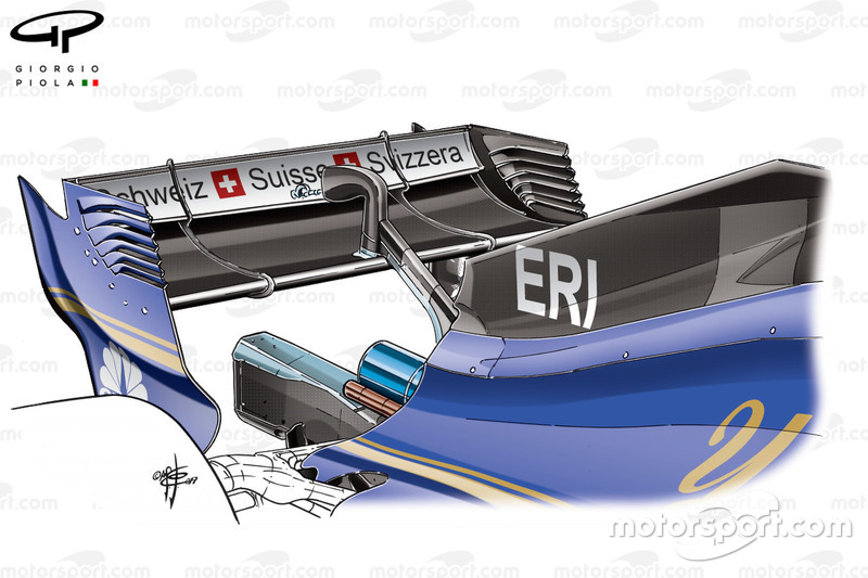 Sauber C36 new engine cover