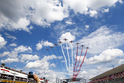 The French Air Force display above the grid