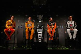 (Left to Right): Joey Logano, Kyle Busch, Martin Truex JR, Kevin Harvick