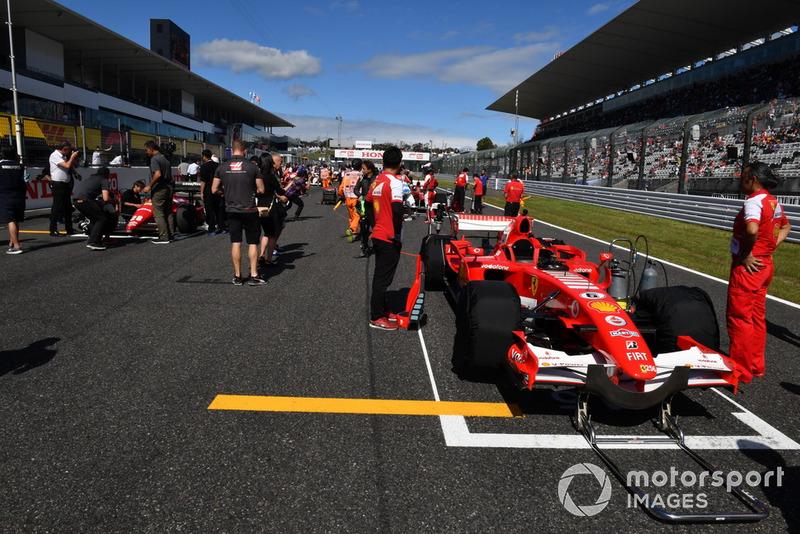 Ferrari lors des Legends F1 30th Anniversary Lap Demonstration