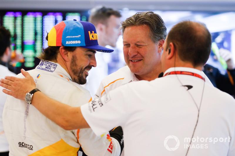 Фернандо Алонсо, McLaren, генеральний директор McLaren Racing Зак Браун