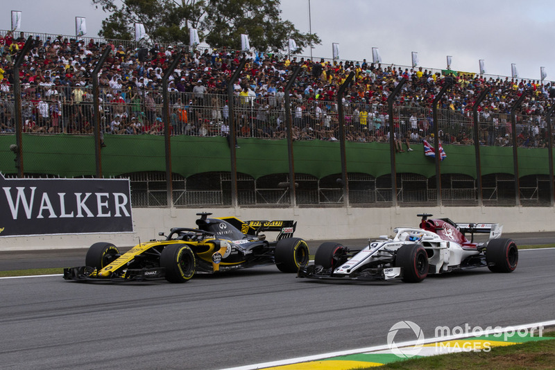 Ніко Хюлькенберг, Renault Sport F1 Team R.S. 18 та Маркус Ерікссон, Sauber C37