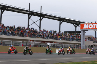 Марко Меландрі, Aruba.it Racing-Ducati SBK Team, Джонатан Рей, Kawasaki Racing, лідери першої гонки