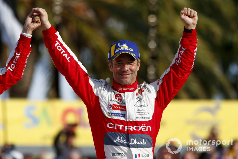 Winner Sébastien Loeb, Citroën World Rally Team Citroën C3 WRC