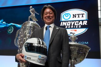 2019 IndyCar NTT Series Sponsor announcement with Tsunehisa Okuno, NTT executive vice president, head of global business