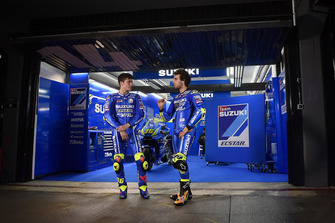 Joan Mir and Alex Rins, Suzuki Ecstar MotoGP Team, at Valencia Circuit