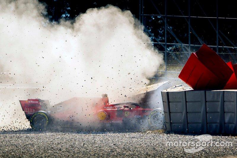 Accidente de Sebastian Vettel, Ferrari