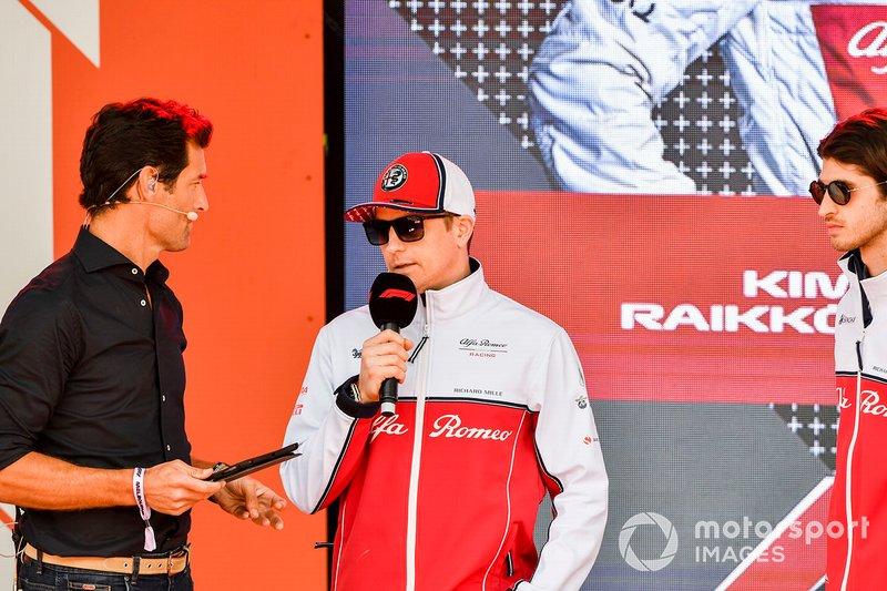 Mark Webber and Kimi Raikkonen, Alfa Romeo Racing at the Federation Square event