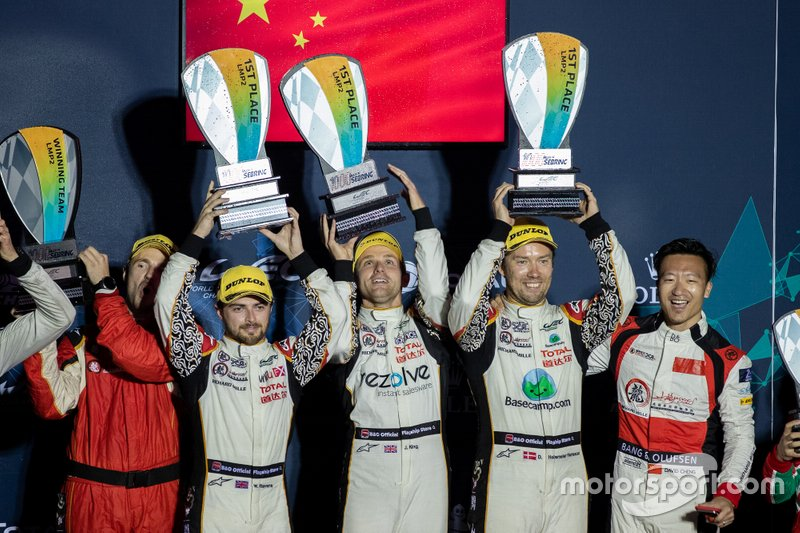 Podium P2: #37 Jackie Chan DC Racing Oreca 07: David Heinemeier Hansson, Jordan King, Will Stevens