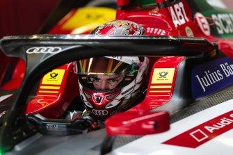 Daniel Abt, Audi Sport ABT Schaeffler, Audi e-tron FE05, sits in his car