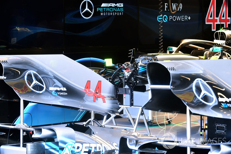 La carrosserie de la Mercedes AMG F1 W09