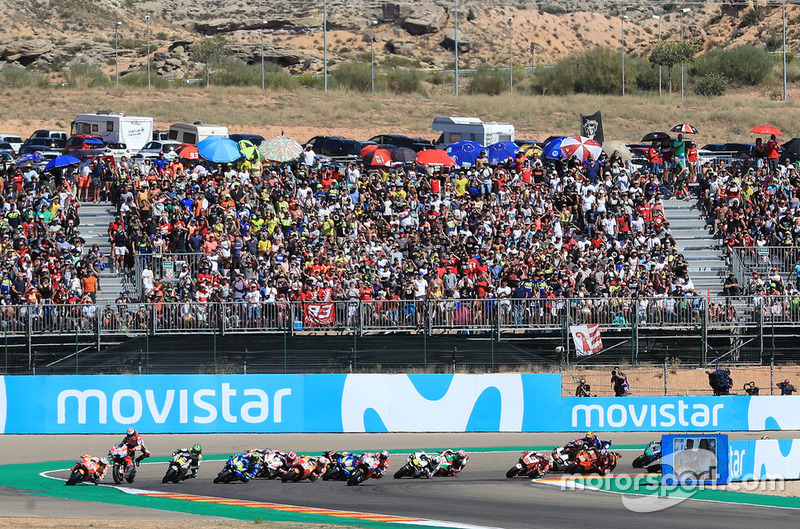 Аварія Хорхе Лоренсо, Ducati Team, на старті гонки