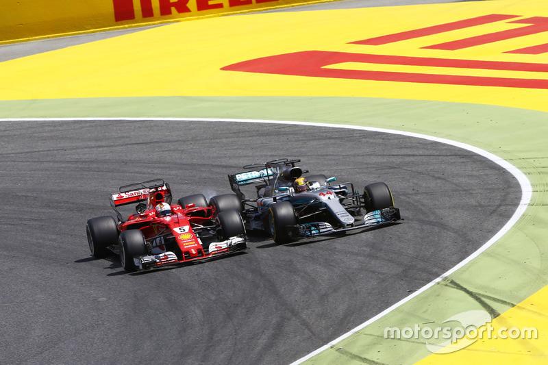 La lutte pour le titre s'intensifie entre Hamilton et Vettel