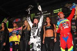 Il podio della 250 ad Anaheim