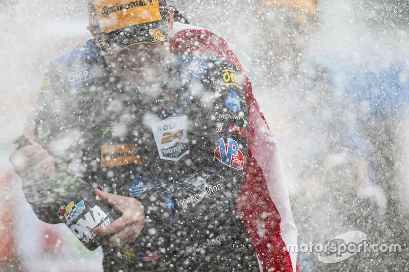 Jeff Gordon, Wayne Taylor Racing, celebra