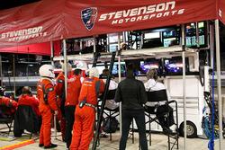 Stevenson Motorsports garage atmosphere