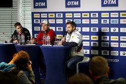 Conferenza stampa, Edoardo Mortara, Mercedes-AMG Team HWA, Mercedes-AMG C63 DTM, Mike Rockenfeller, Audi Sport Team Phoenix, Audi RS 5 DTM, Timo Glock, BMW Team RMG, BMW M4 DTM