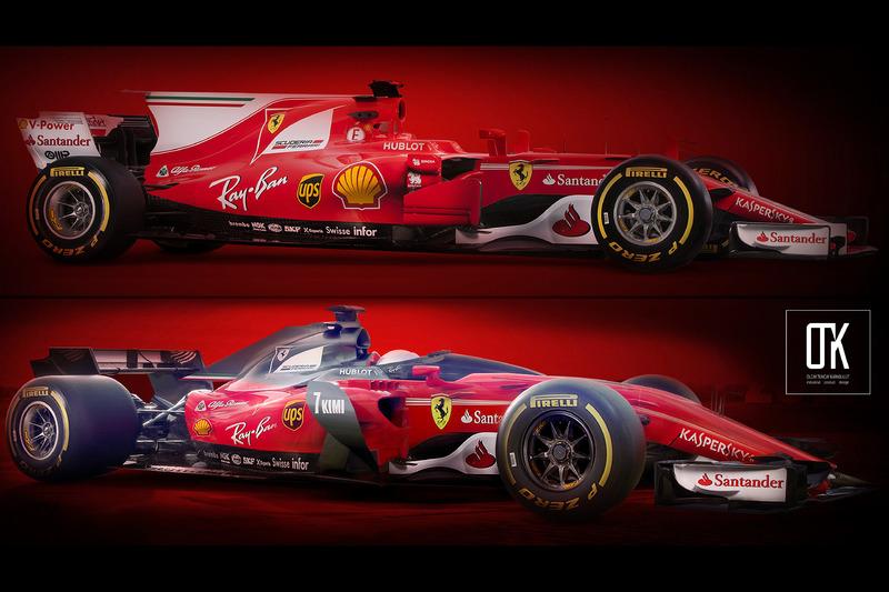 Ferrari 2017 vs. Ferrari 2018, shield, konsept tasarım