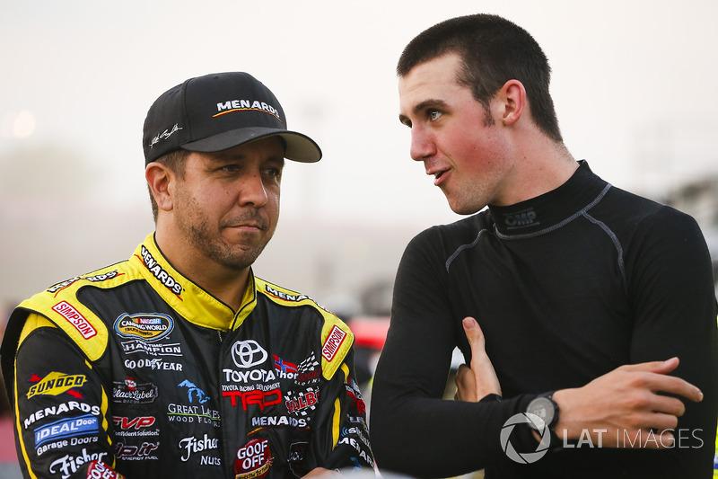 Matt Crafton, ThorSport Racing Toyota, Austin Cindric, Brad Keselowski Racing Ford