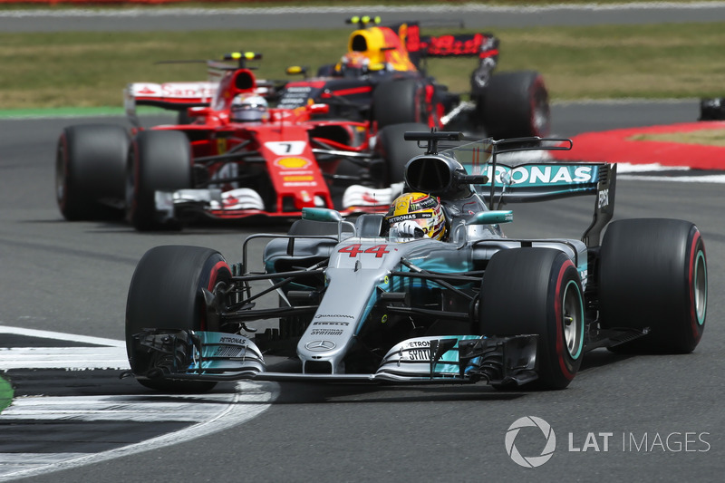 Льюіс Хемілтон, Mercedes AMG F1 W08, Кімі Райкконен, Ferrari SF70H, Макс Ферстаппен, Red Bull Racing RB13