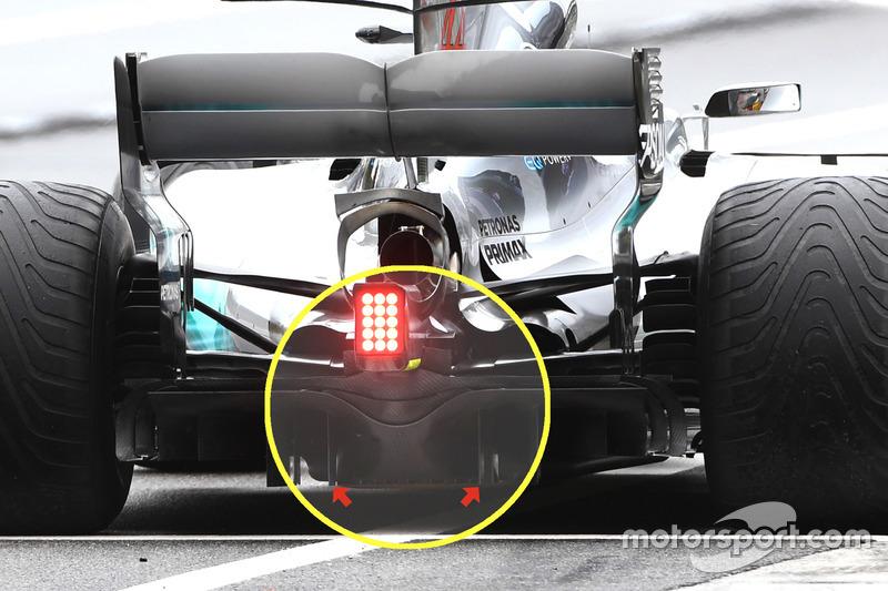 Diffuseur de la Mercedes F1 W08