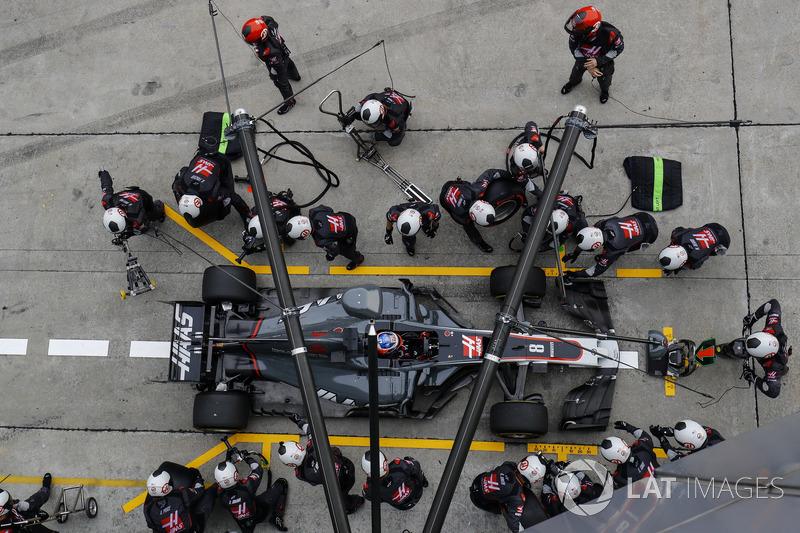 13e : Romain Grosjean (Haas)
