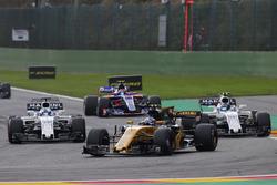 Jolyon Palmer, Renault Sport F1 Team RS17, Felipe Massa, Williams FW40, Lance Stroll, Williams FW40, Carlos Sainz Jr., Scuderia Toro Rosso STR12