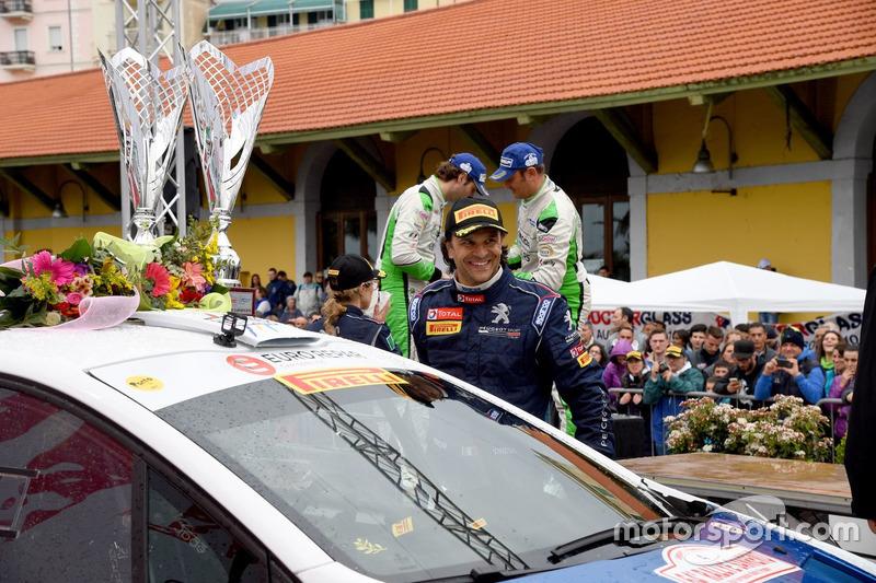 Cerimonia di Premiazione: Paolo Andreucci, Peugeot 208 T16, Peugeot Sport Italia