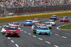 Toyota Camry pace car and Denny Hamlin, Joe Gibbs Racing Toyota