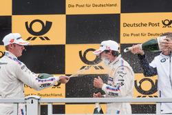 Podium: Maxime Martin, BMW Team RBM, BMW M4 DTM. Bruno Spengler, BMW Team RBM, BMW M4 DTM, Bart Mamp