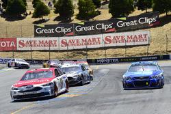 Ryan Blaney, Wood Brothers Racing Ford, Kasey Kahne, Hendrick Motorsports Chevrolet, Brad Keselowski, Team Penske Ford