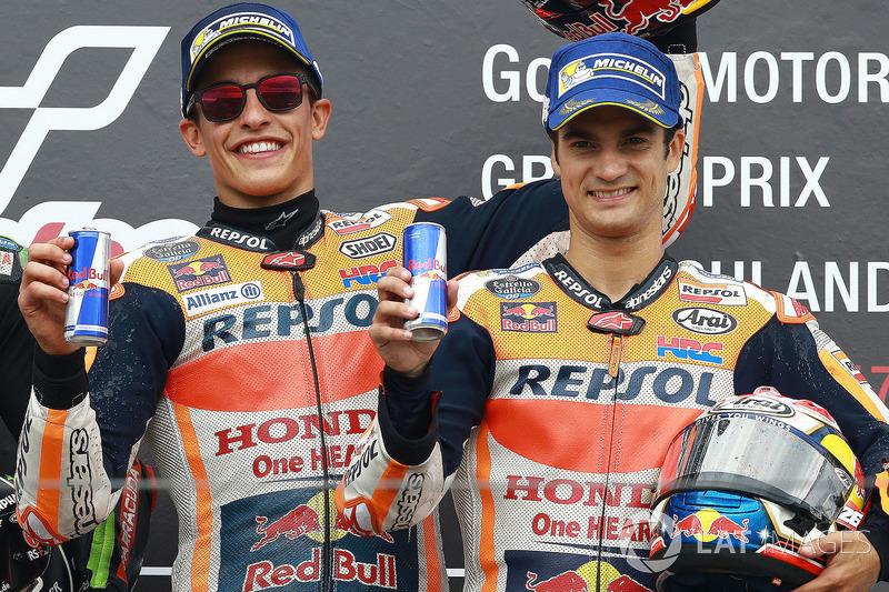 Podium: Marc Marquez, Repsol Honda Team, Dani Pedrosa, Repsol Honda Team