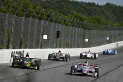 Will Power, Team Penske Chevrolet, Charlie Kimball, Chip Ganassi Racing Honda