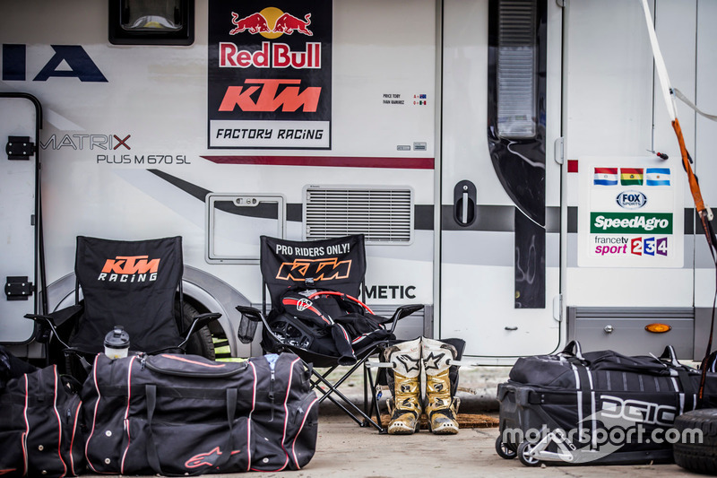 Zona del equipo Red Bull KTM Factory Racing