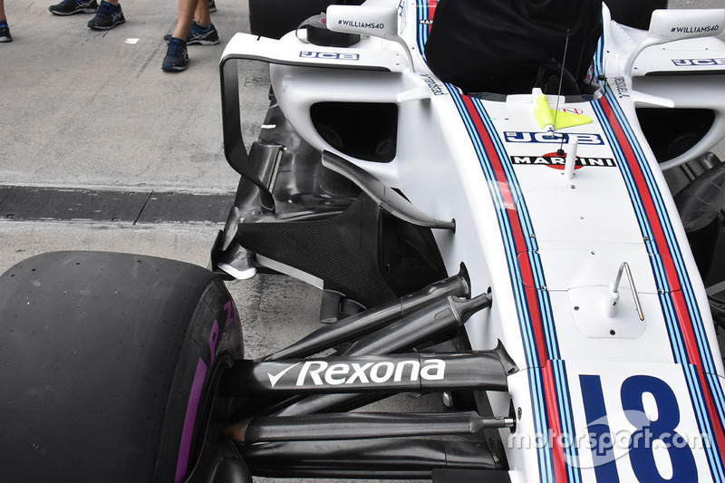 Williams FW40 sidepod detail